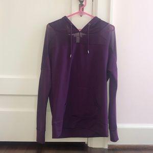 Maroon Athletic Sweatshirt w/ Mesh Sleeves